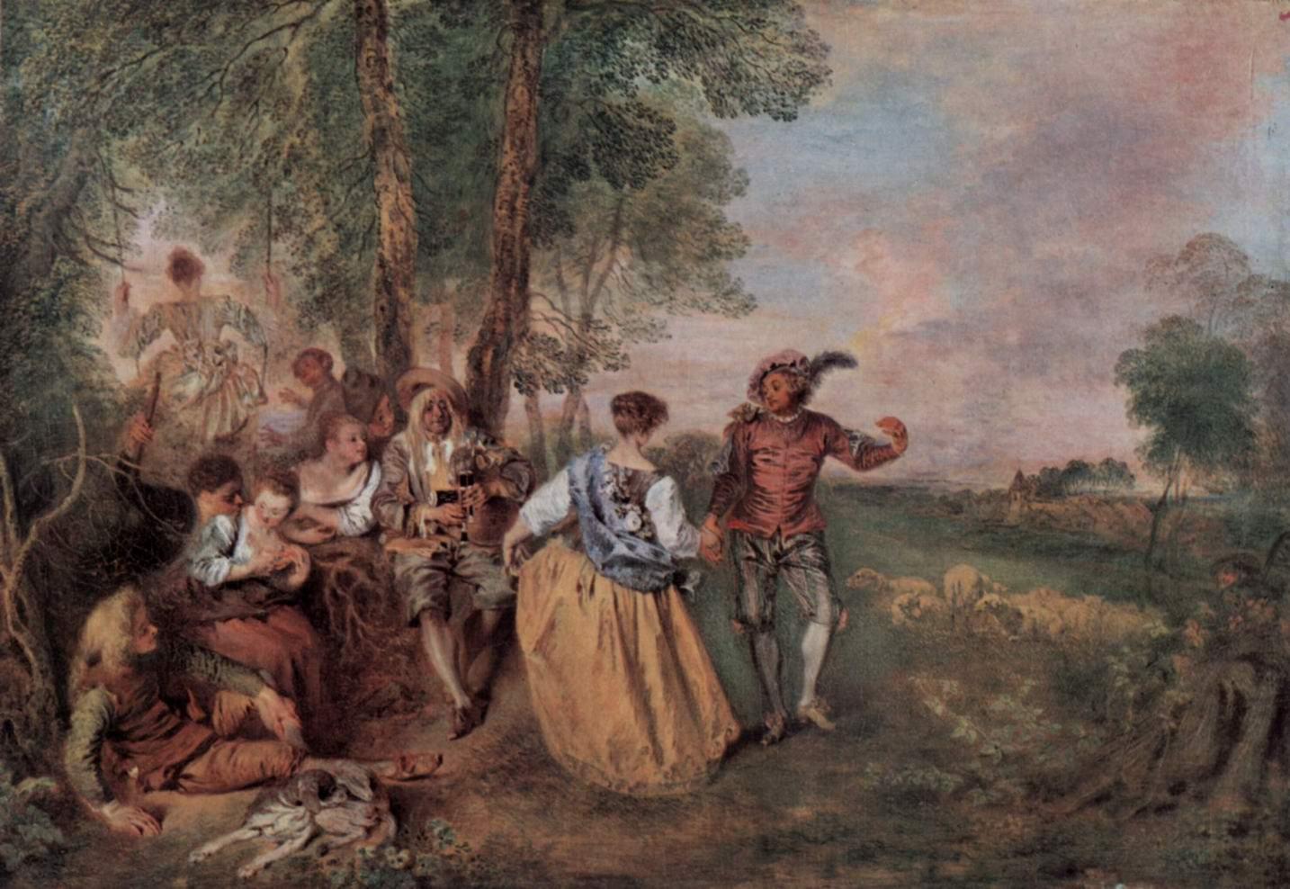 Пастушки (изящные праздники), Ватто Антуан