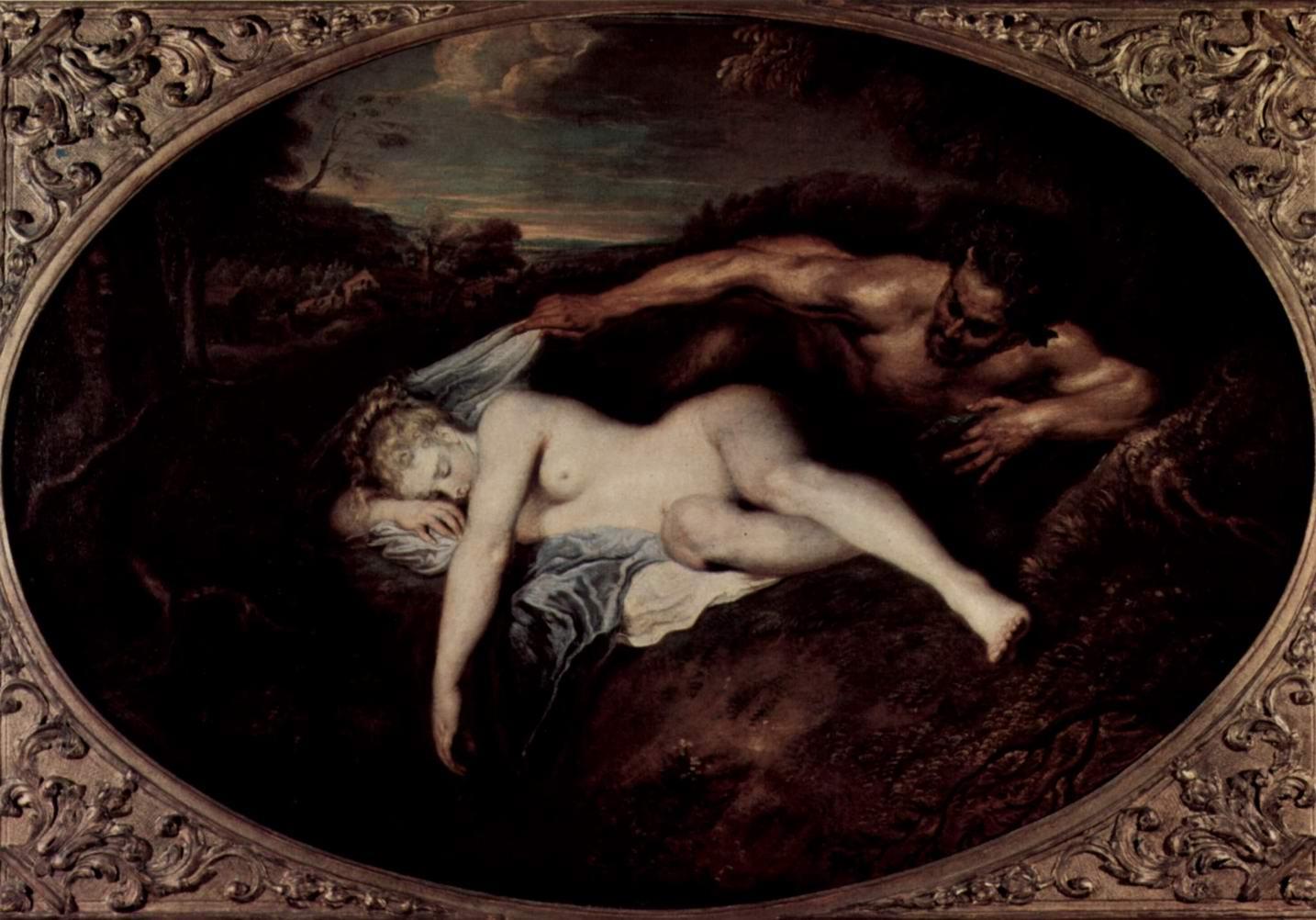 Юпитер и Антиопа (сатир и спящая нимфа), Ватто Антуан