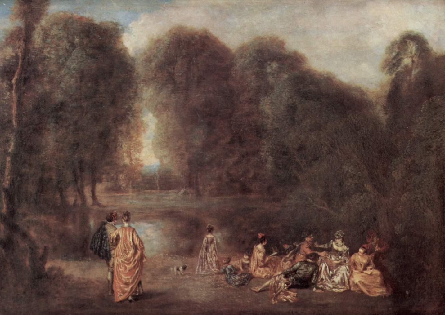 Общество в парке, Ватто Антуан