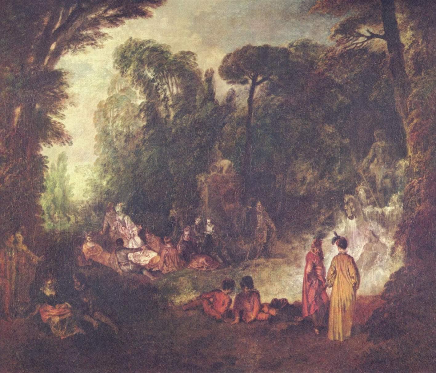 Праздник в парке, Ватто Антуан