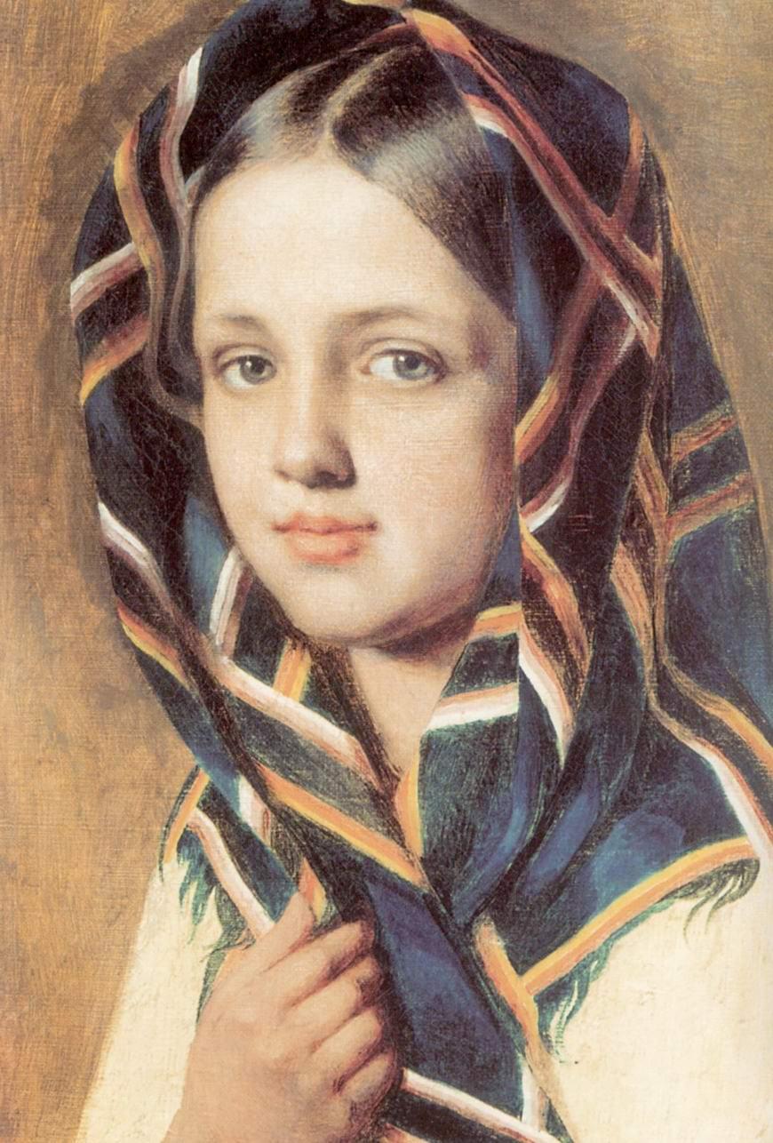 Девушка в платке, Венецианов Алексей Гаврилович