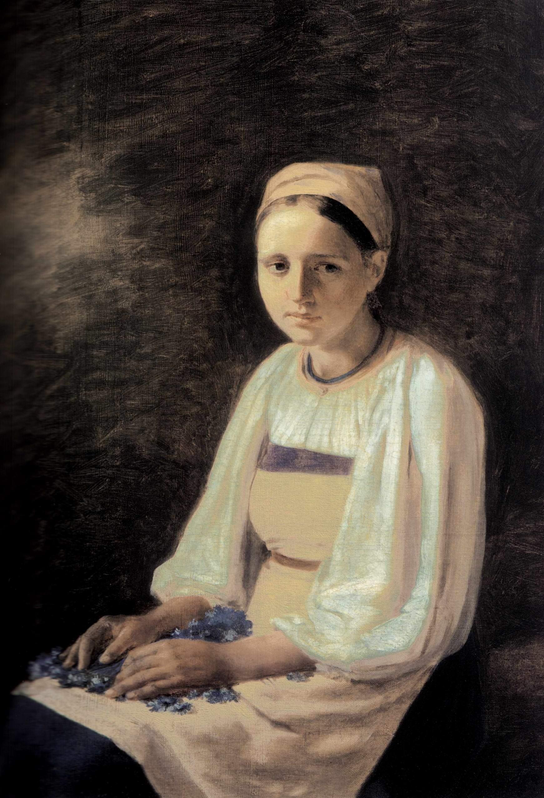 Крестьянка с васильками, Венецианов Алексей Гаврилович