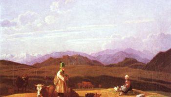 Охотники на горном пастбище