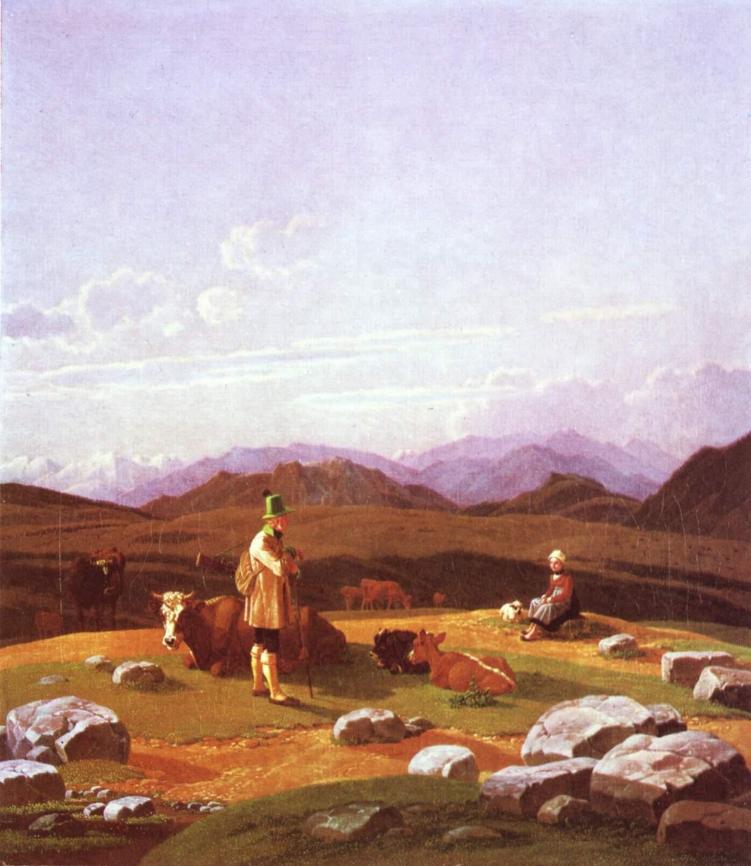 Охотники на горном пастбище, Венецианов Алексей Гаврилович