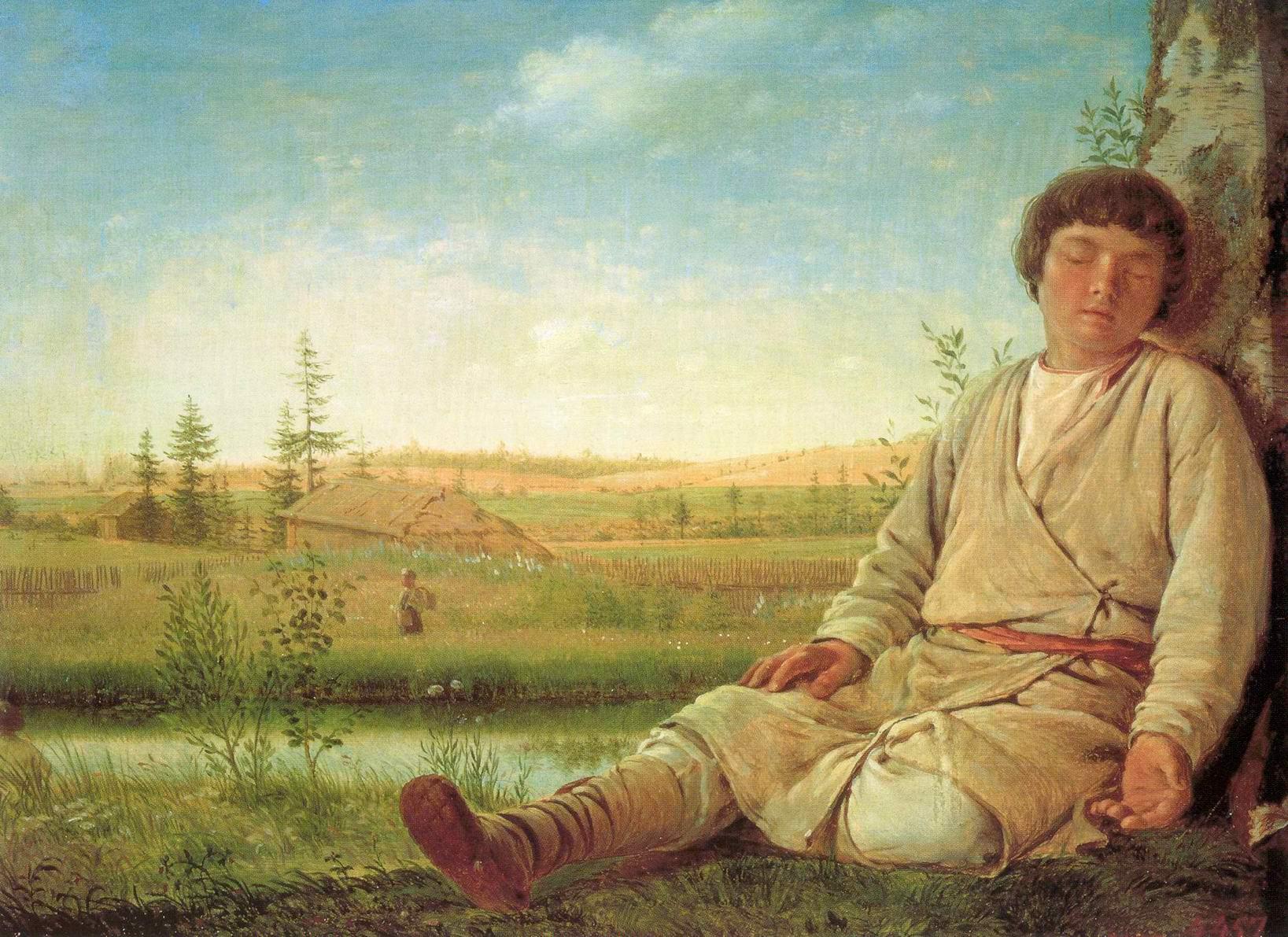 Спящий пастушок, Венецианов Алексей Гаврилович