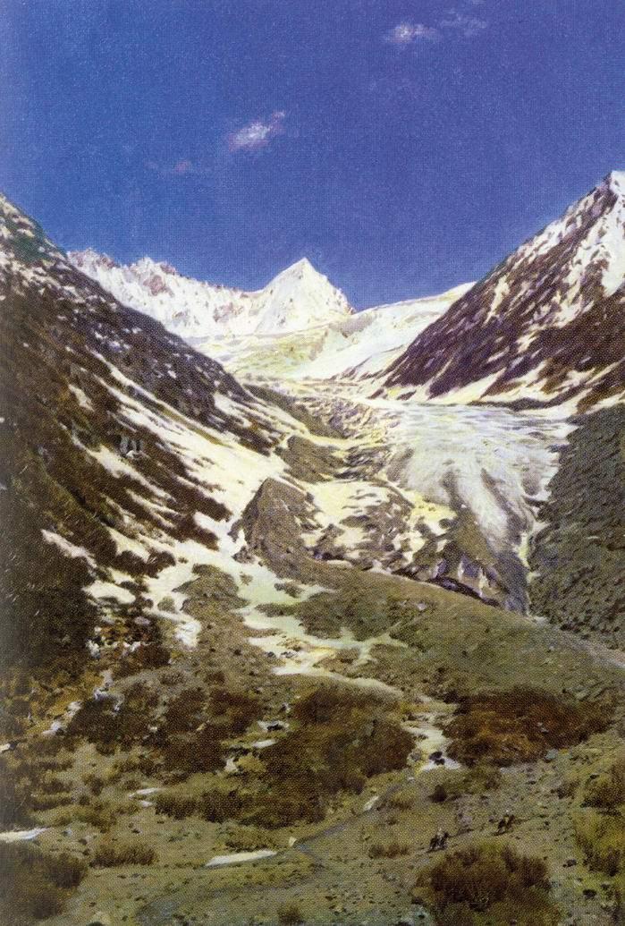 Ледник по дороге из Кашмира в Ладахк, Верещагин Василий Васильевич