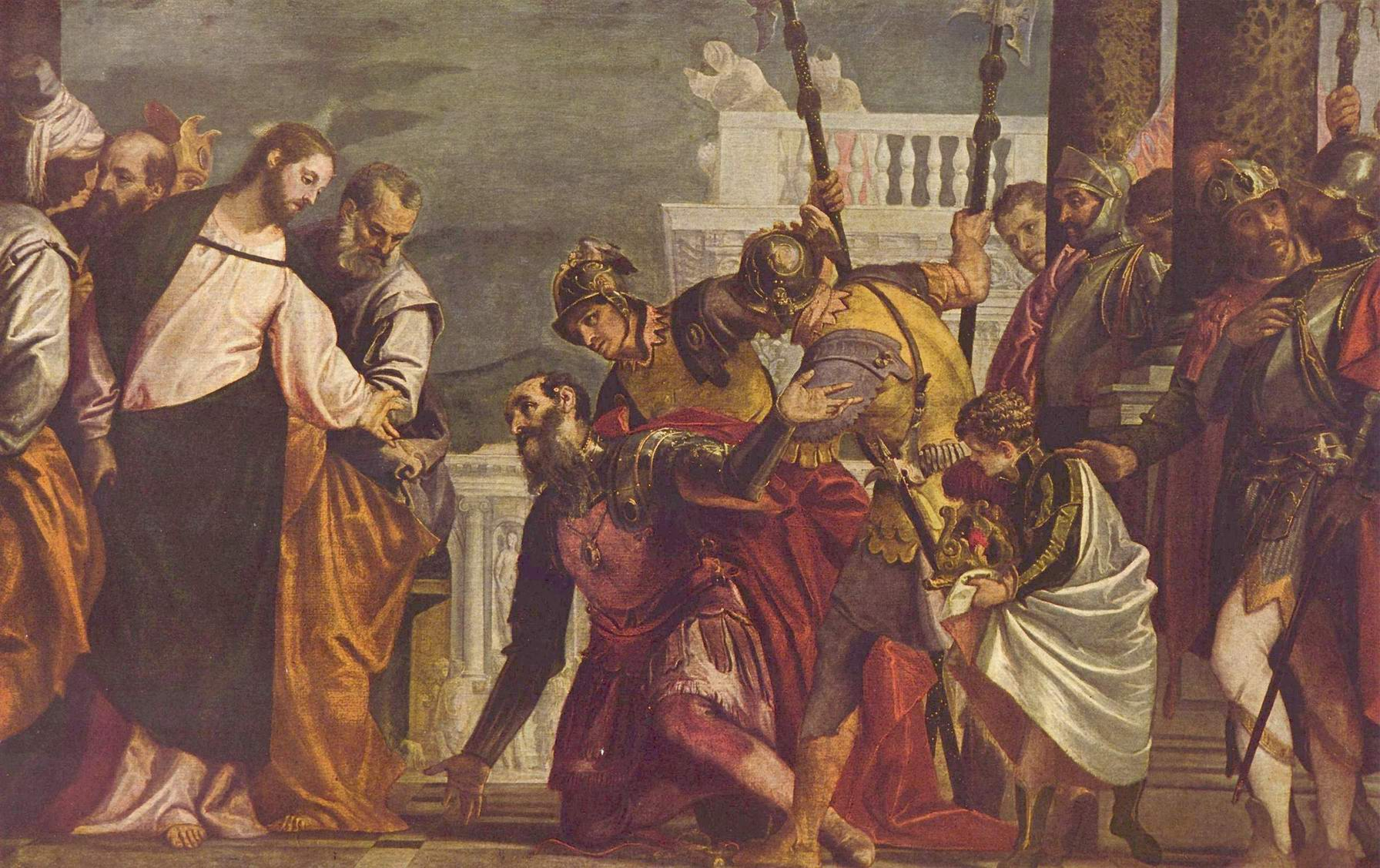 Христос и сотник из Капернаума, Веронезе Паоло