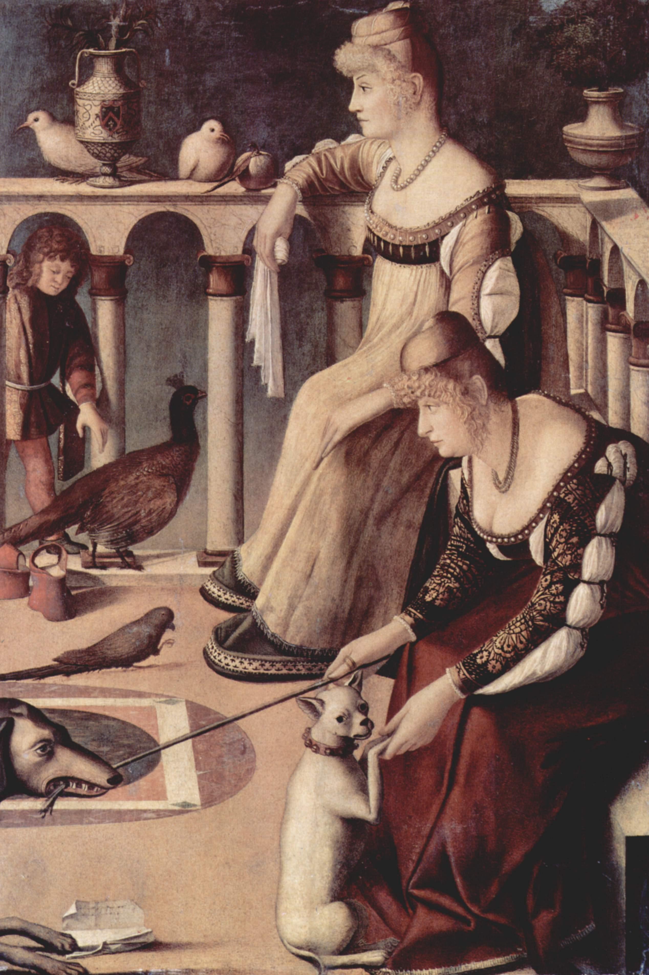 Две придворные дамы, Витторе Карпаччо