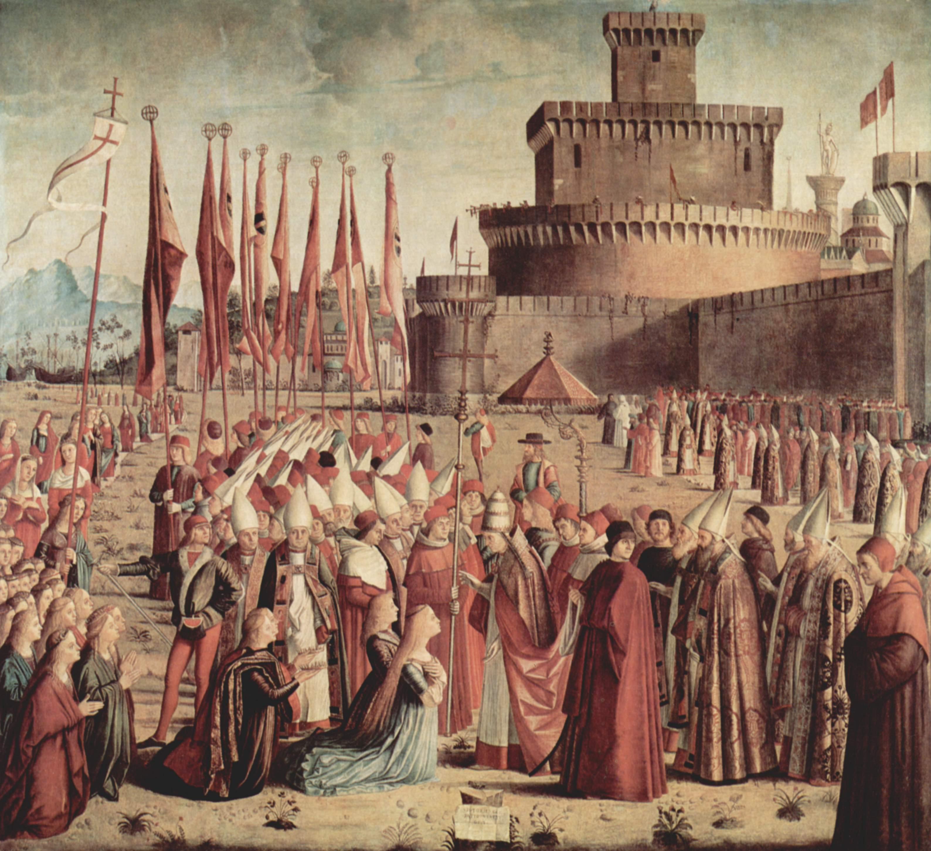 Цикл картин к житию св. Урсулы, встреча паломников с Папой, Витторе Карпаччо