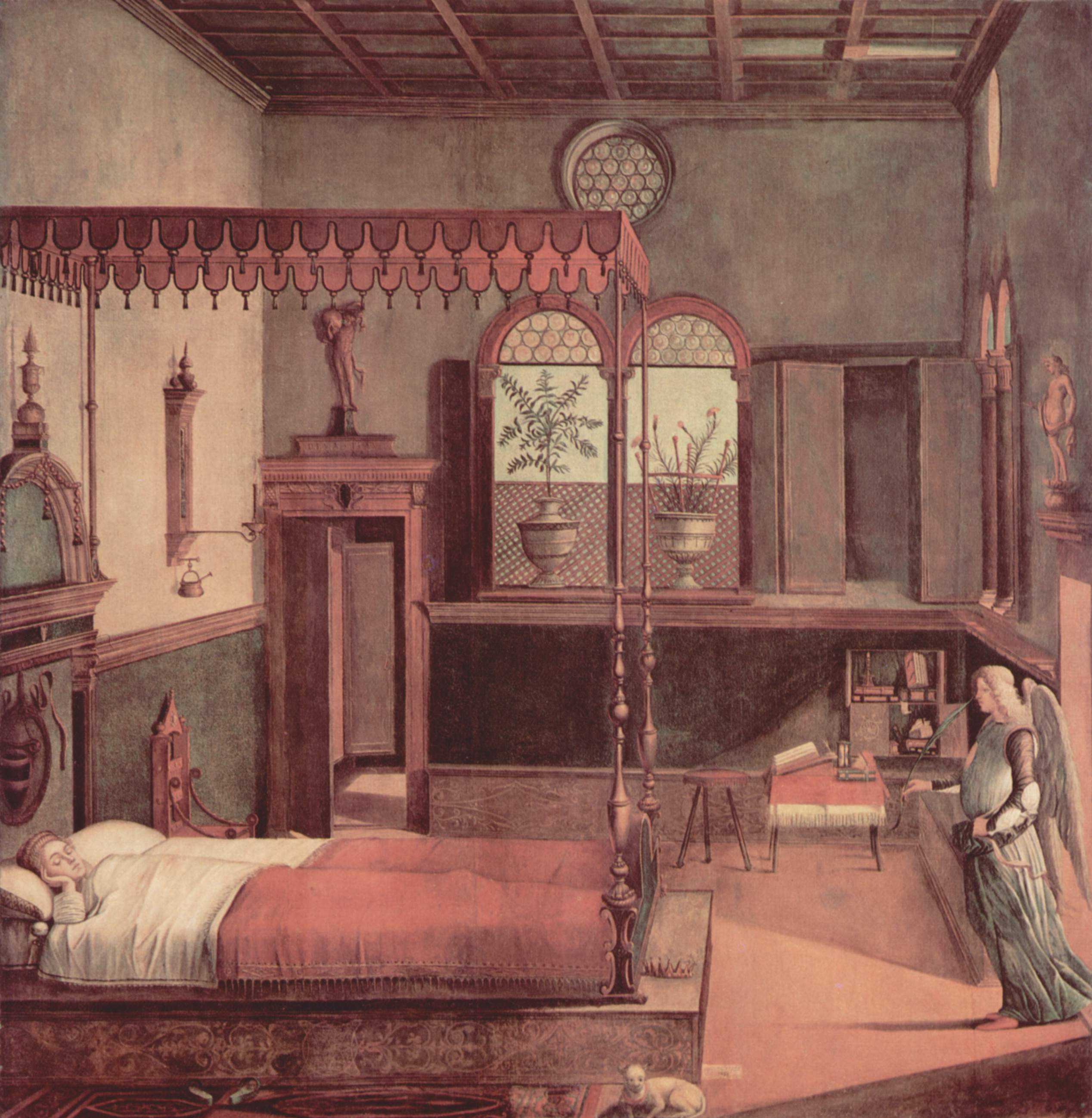 Цикл картин к житию св. Урсулы, сон святой, Витторе Карпаччо