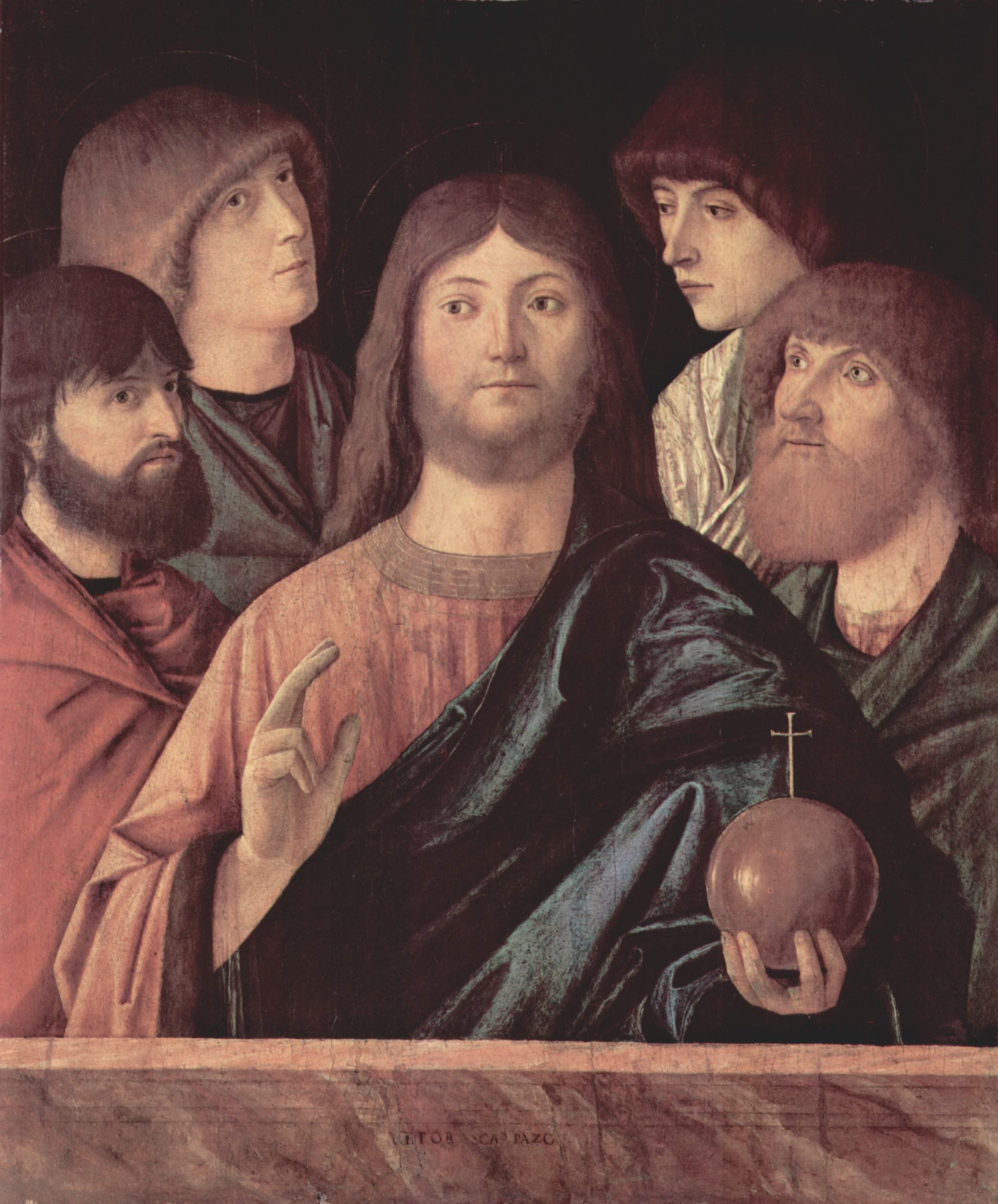 Спаситель, Благословляющий четырех апостолов, Витторе Карпаччо