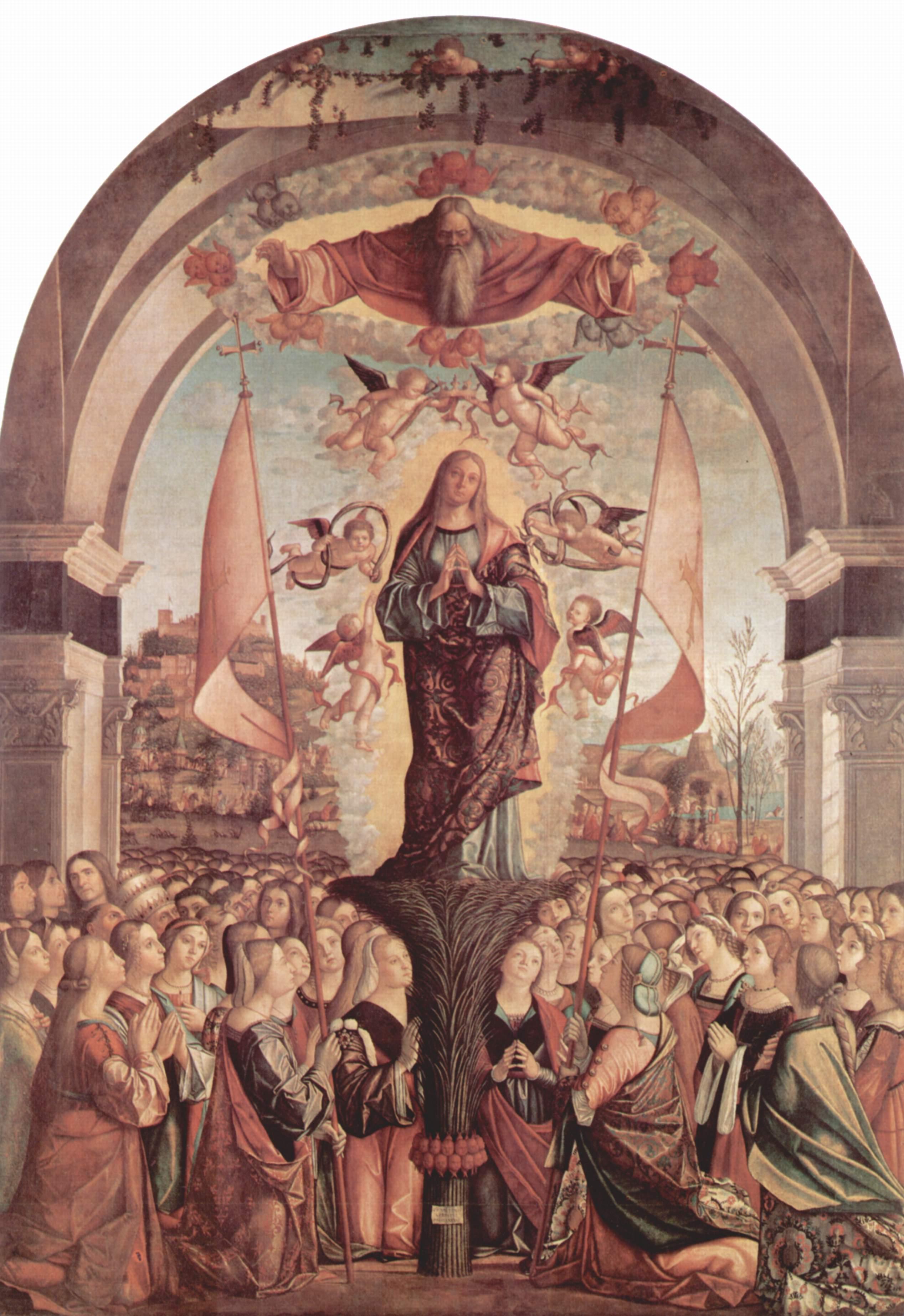 Цикл картин к житию св. Урсулы, прославление св. Урсулы, Витторе Карпаччо