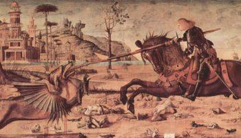 Цикл картин капеллы Скуола ди Сан Джорджио Скьявони, св. Георгий сражается с драконом