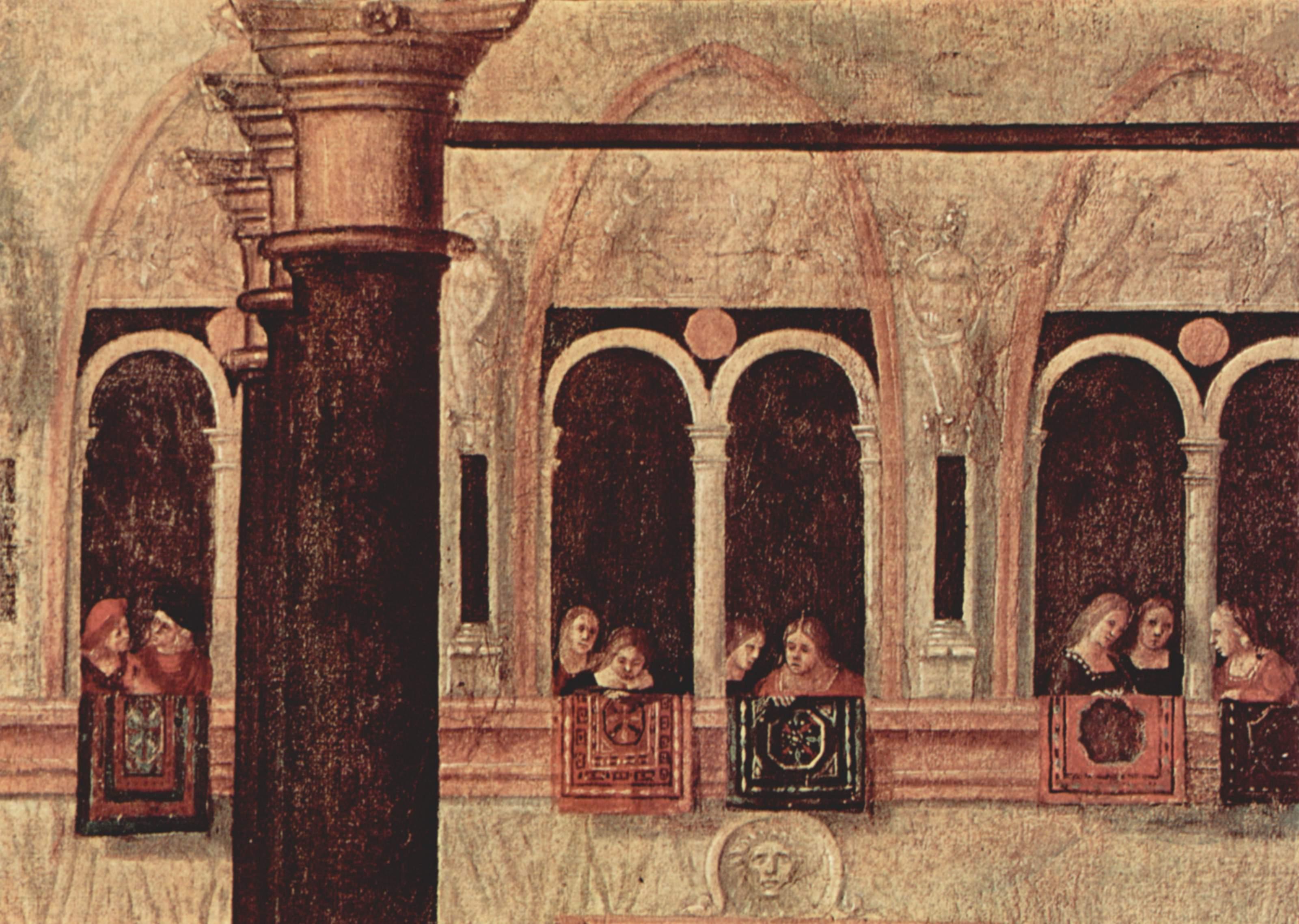 Цикл картин капеллы Скуола ди Сан Джорджио Скьявони, св. Трифон Фригийский освобождает дочь императо, Витторе Карпаччо