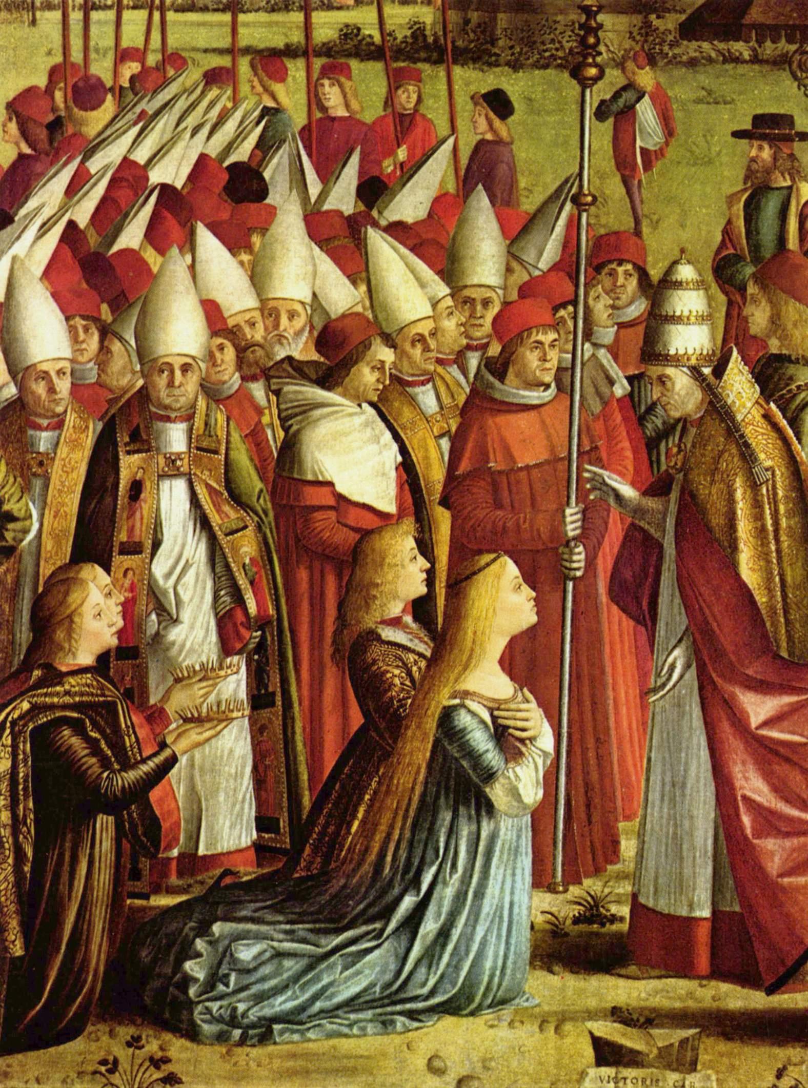 Цикл картин к житию св. Урсулы, встреча паломников с Папой. Деталь, Витторе Карпаччо