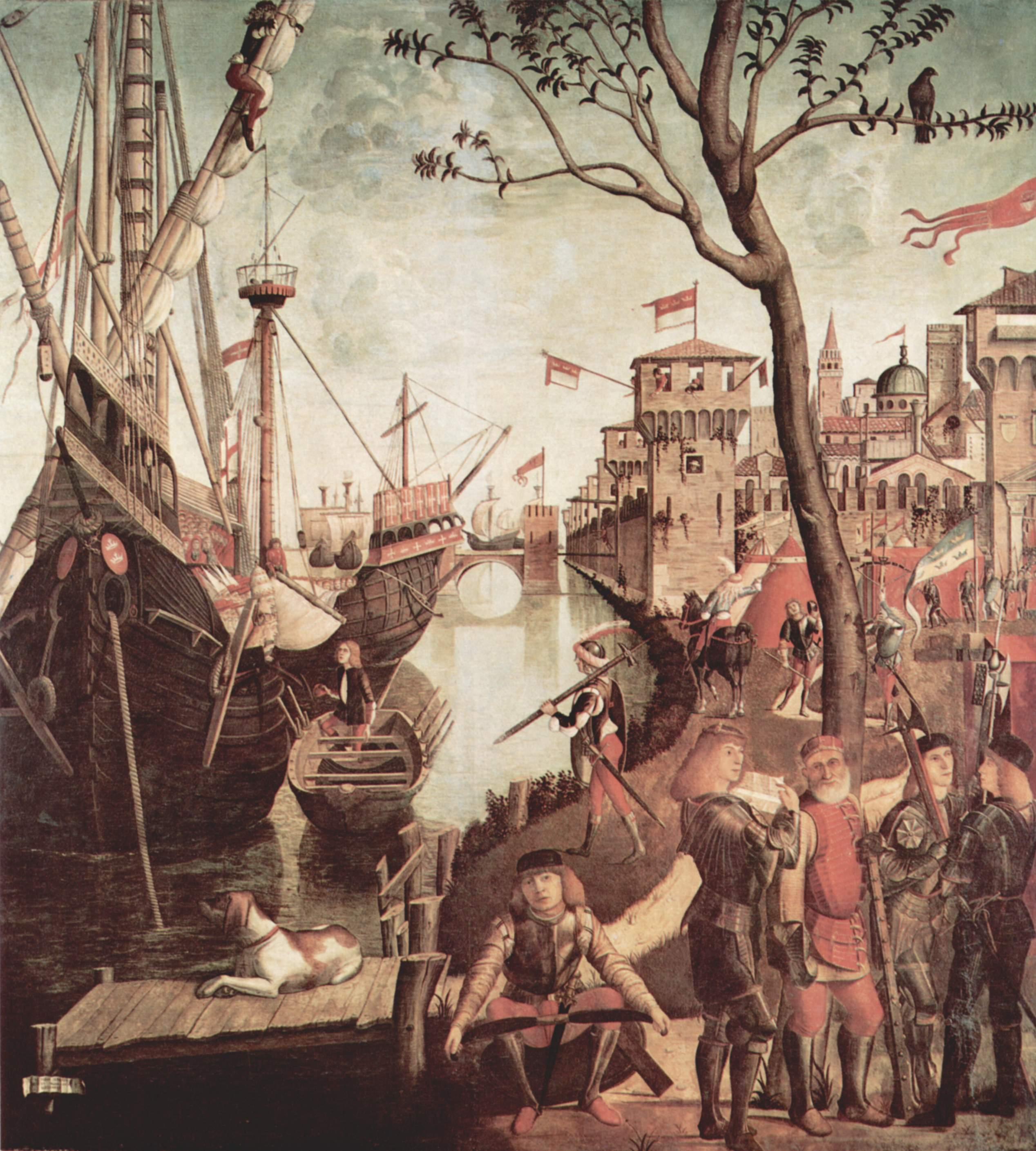Цикл картин к житию св. Урсулы, прибытие в Кёльн, Витторе Карпаччо