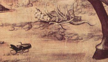 Цикл картин капеллы Скуола ди Сан Джорджио Скьявони, св. Георгий сражается с драконом. Деталь