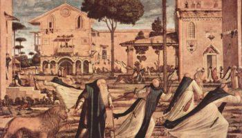 Цикл картин капеллы Скуола ди Сан Джорджио Скьявони, св. Иероним со львом в монастыре