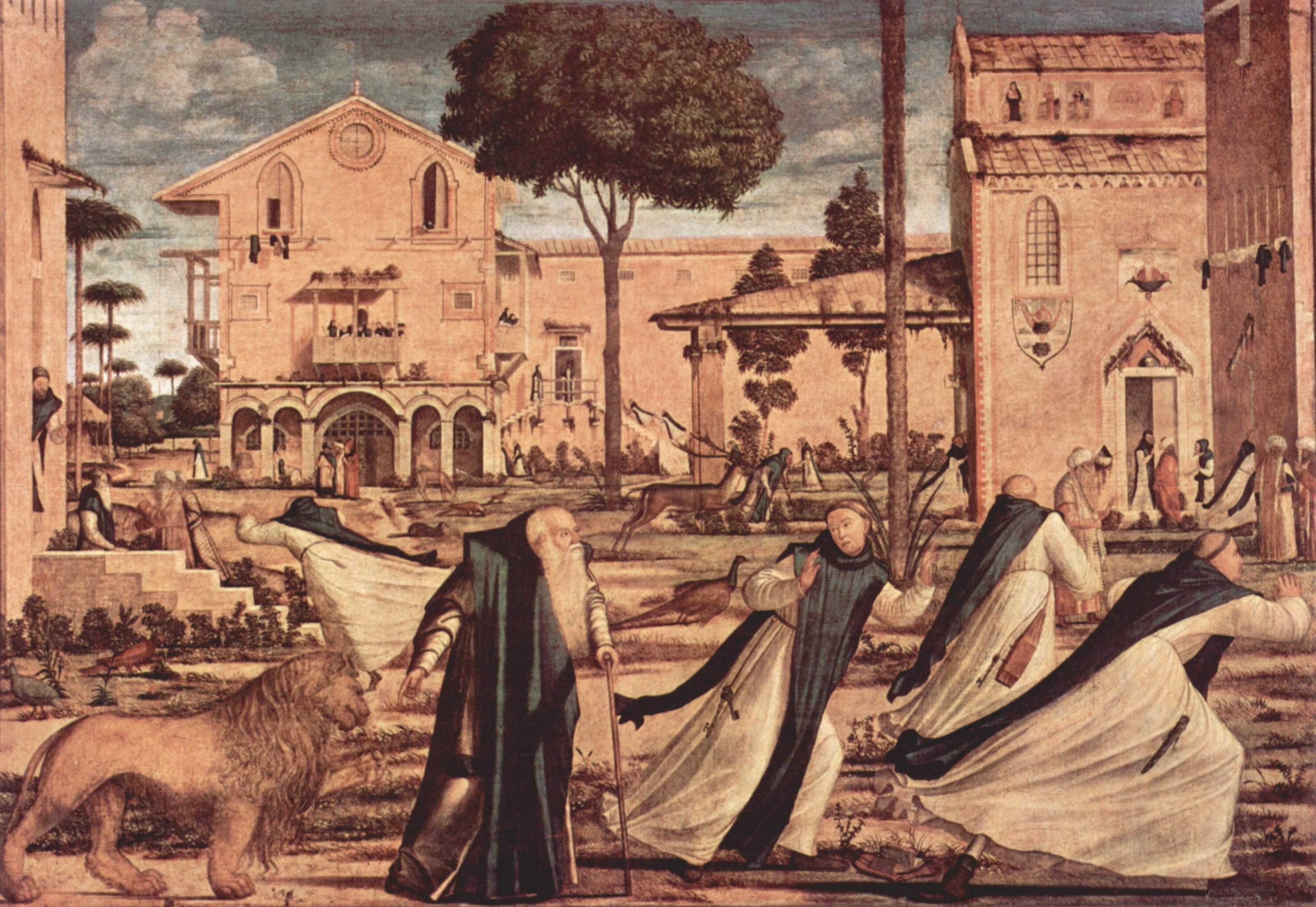 Цикл картин капеллы Скуола ди Сан Джорджио Скьявони, св. Иероним со львом в монастыре, Витторе Карпаччо