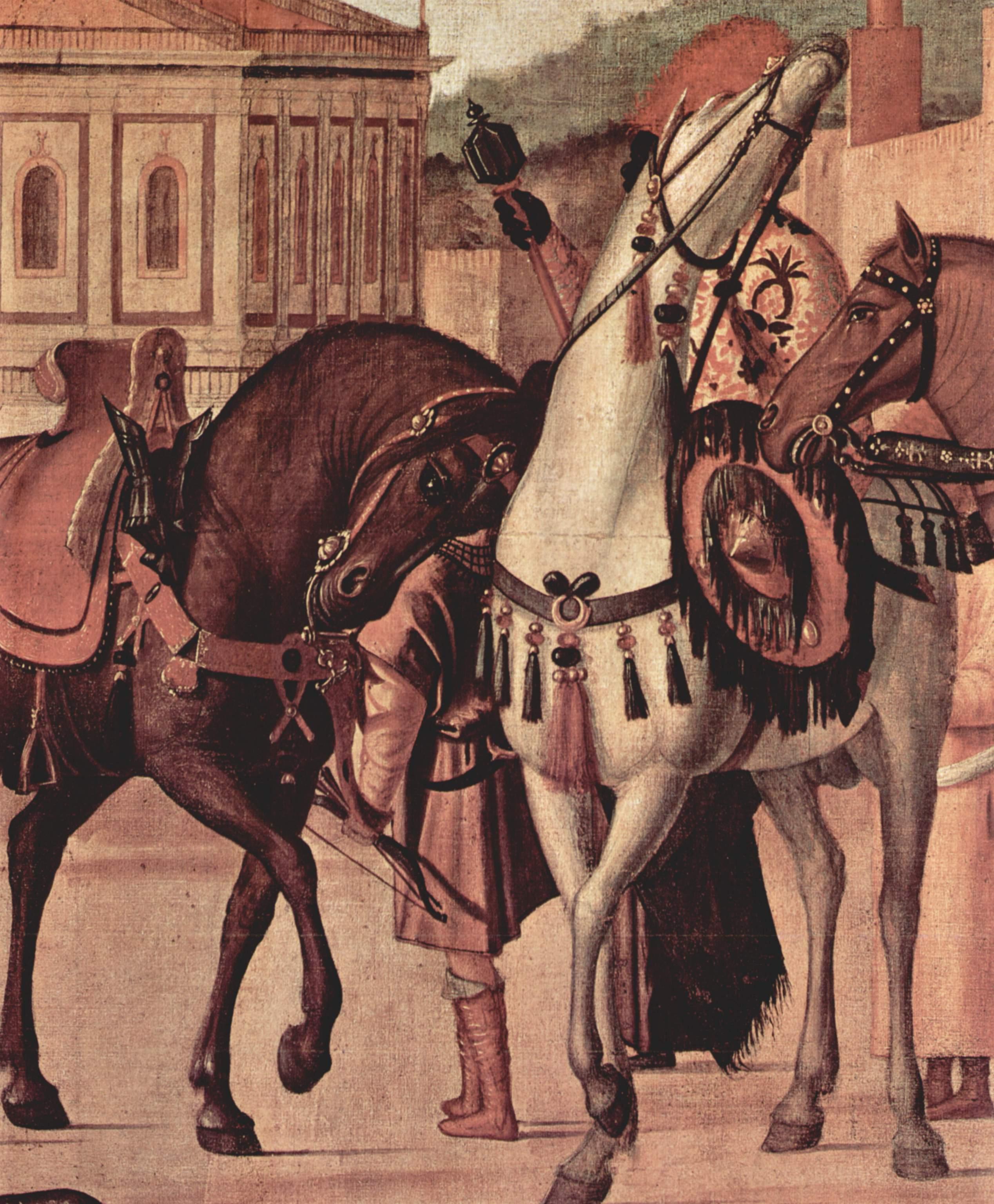 Цикл картин капеллы Скуола ди Сан Джорджио Скьявони, триумф св. Георгия. Деталь, Витторе Карпаччо