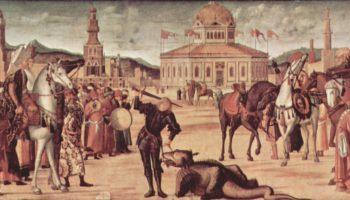Цикл картин капеллы Скуола ди Сан Джорджио Скьявони, триумф св. Георгия
