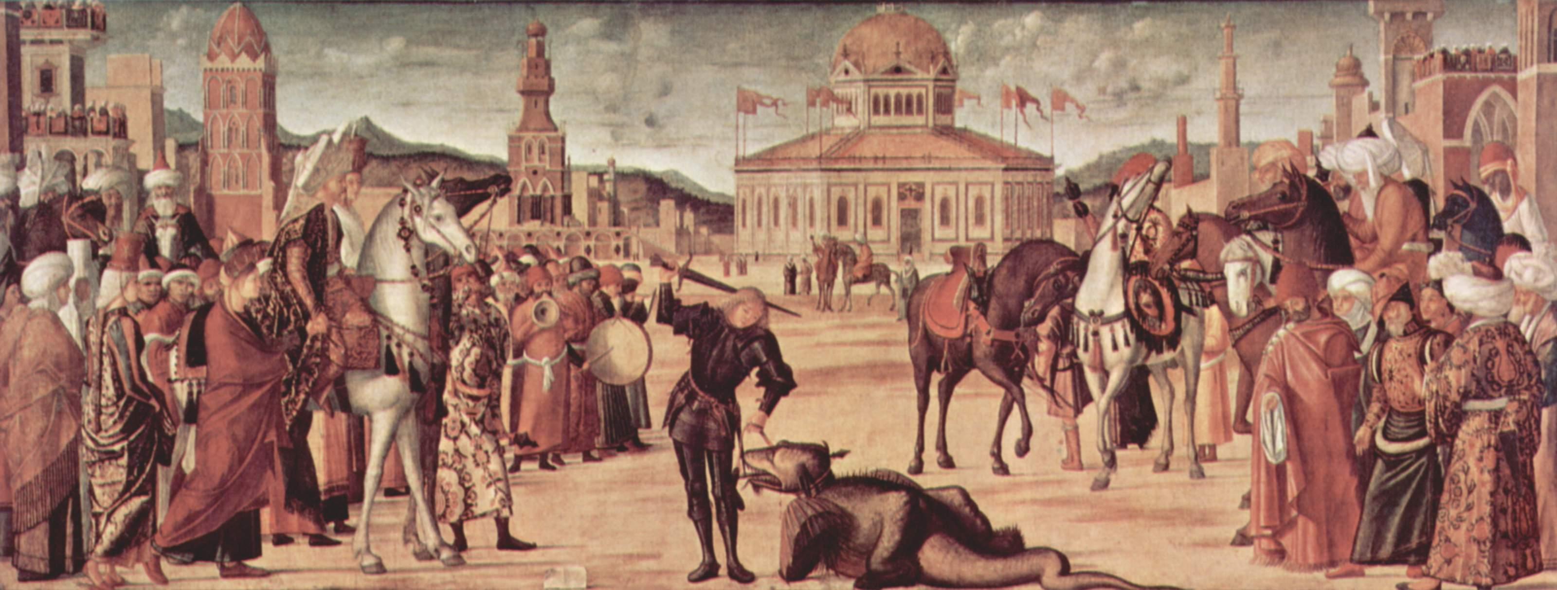 Цикл картин капеллы Скуола ди Сан Джорджио Скьявони, триумф св. Георгия, Витторе Карпаччо