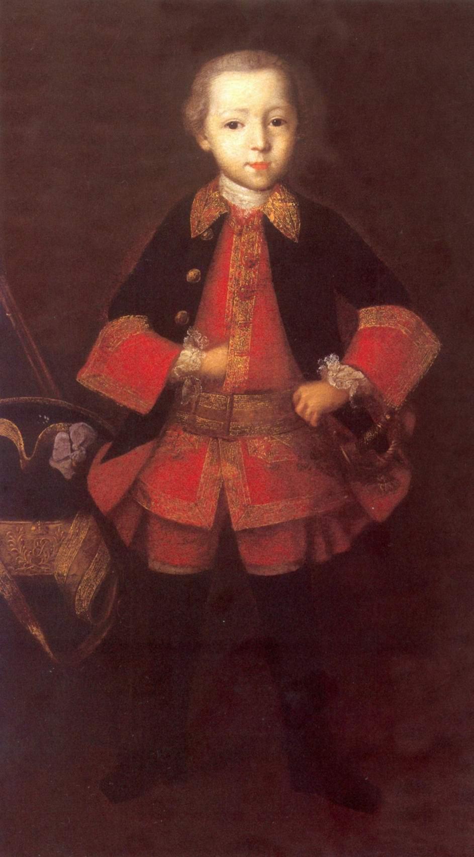 Портрет князя Фёдора Николаевича Голицына в детстве, Вишняков Иван Яковлевич
