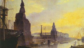 Набережная Невы у Академии художеств