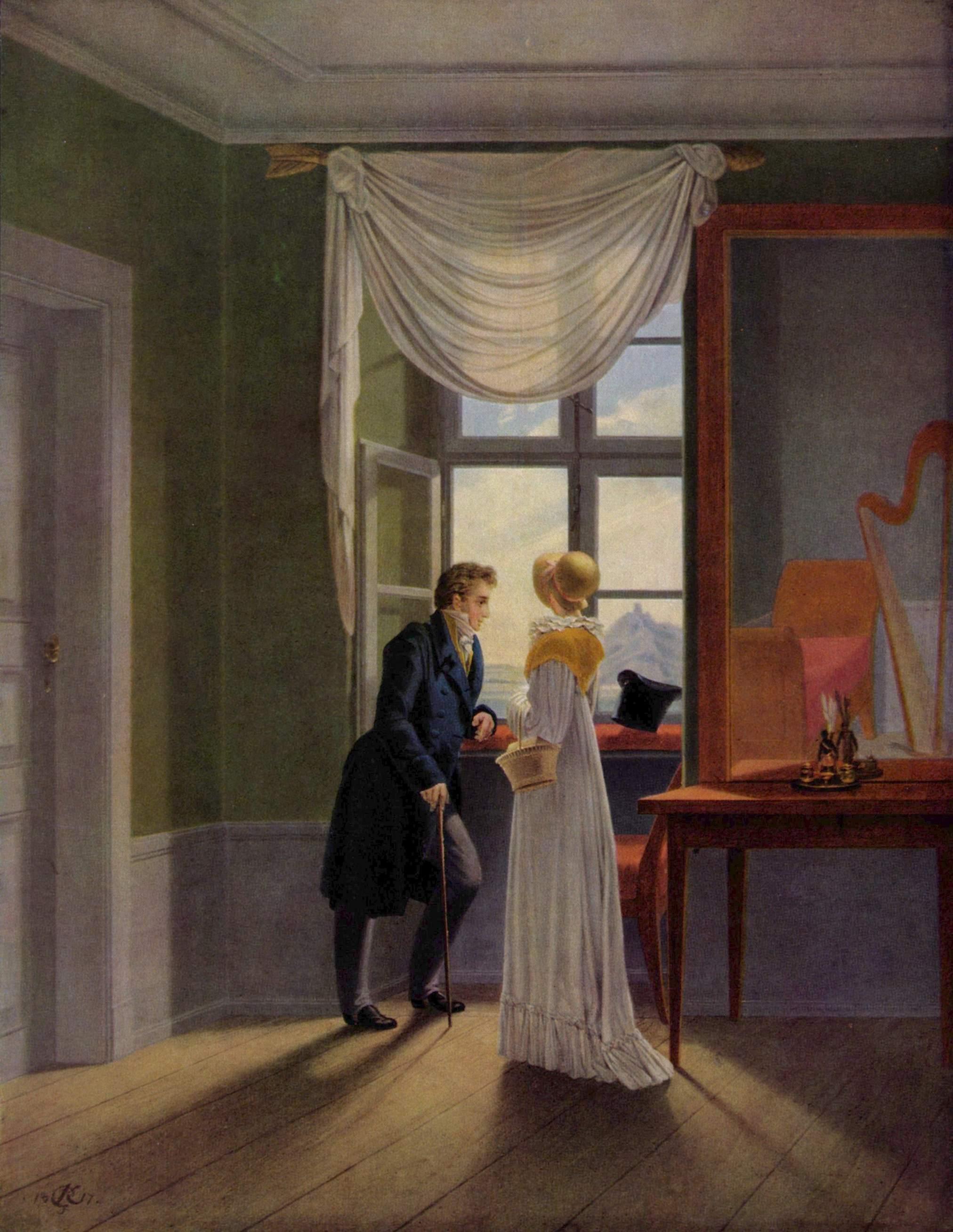 Пара у окна, Георг Фридрих Керстинг