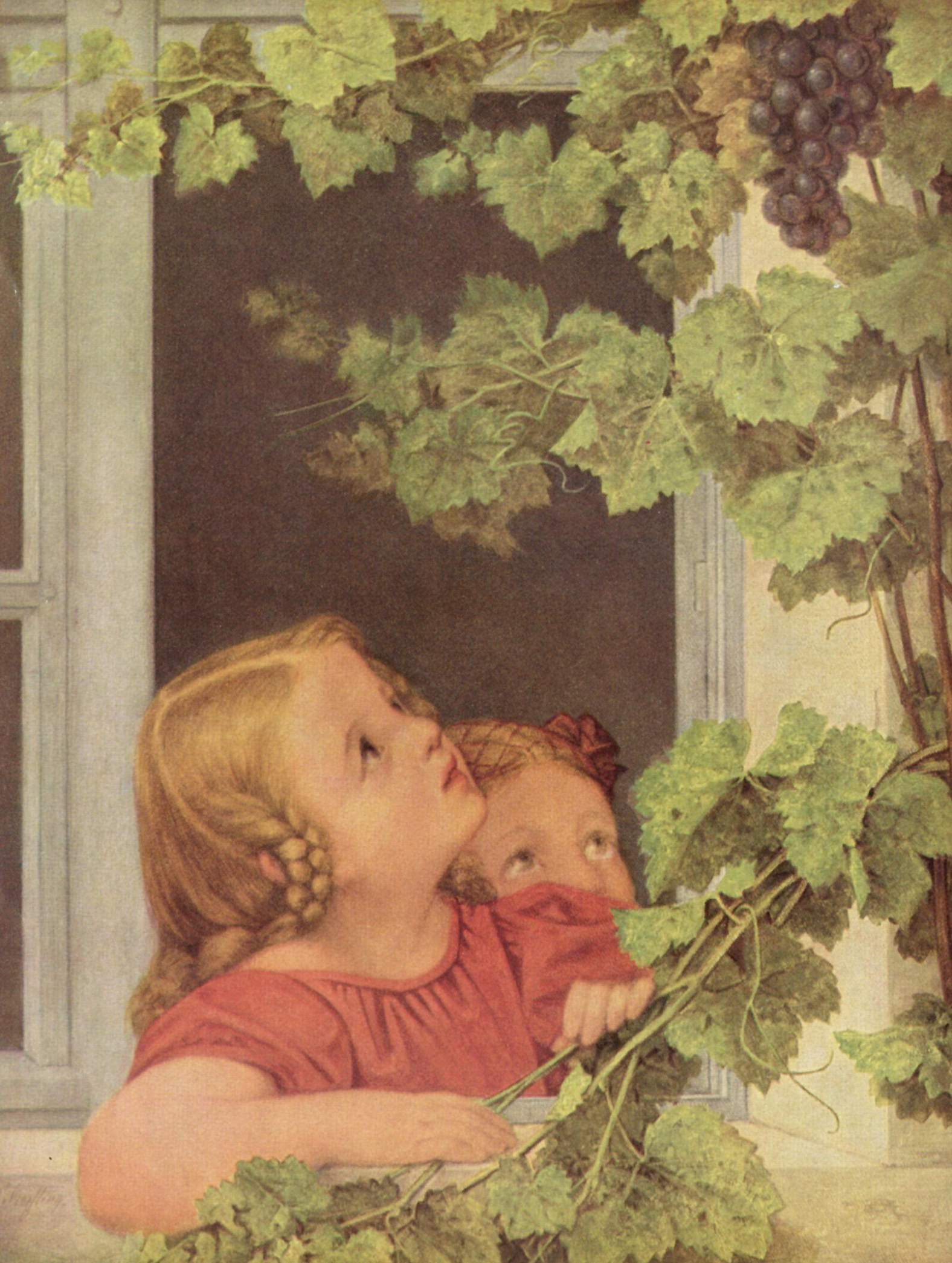 Дети у окна, Георг Фридрих Керстинг