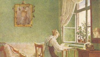 Вышивальщица у окна
