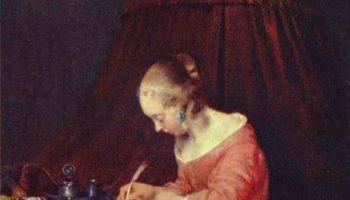 Девушка, пишущая письмо