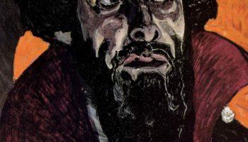 Портрет Ф. И. Шаляпина в роли Бориса Годунова. Этюд к картине