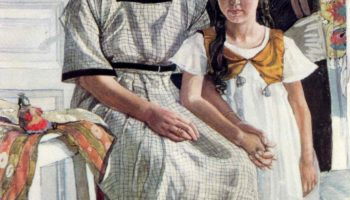 Портрет Л. Я. Рыбаковой с дочерью Олей
