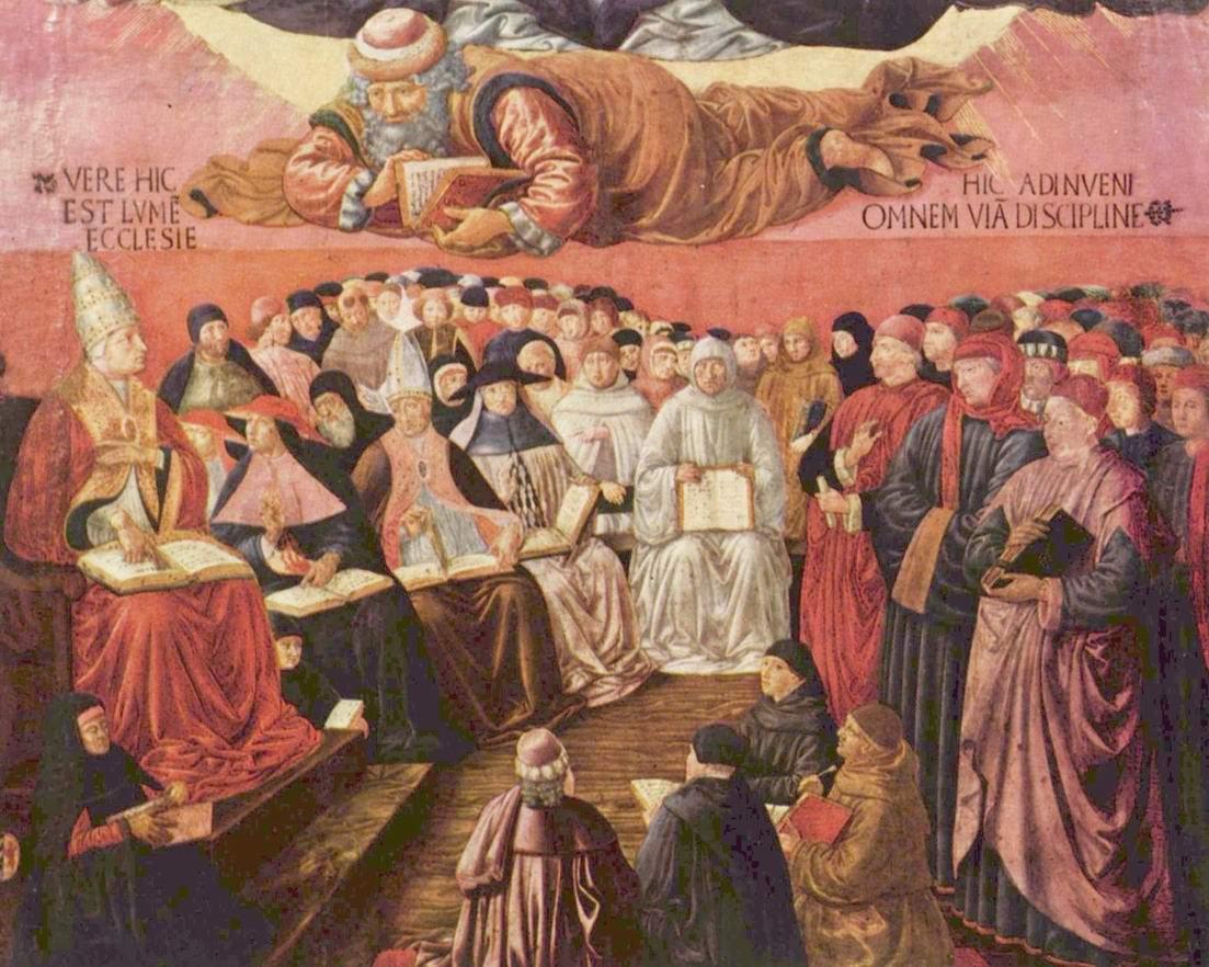 Триумф св. Фомы Аквинского над Аверроэсом. Фрагмент, Гоццоли Беноццо