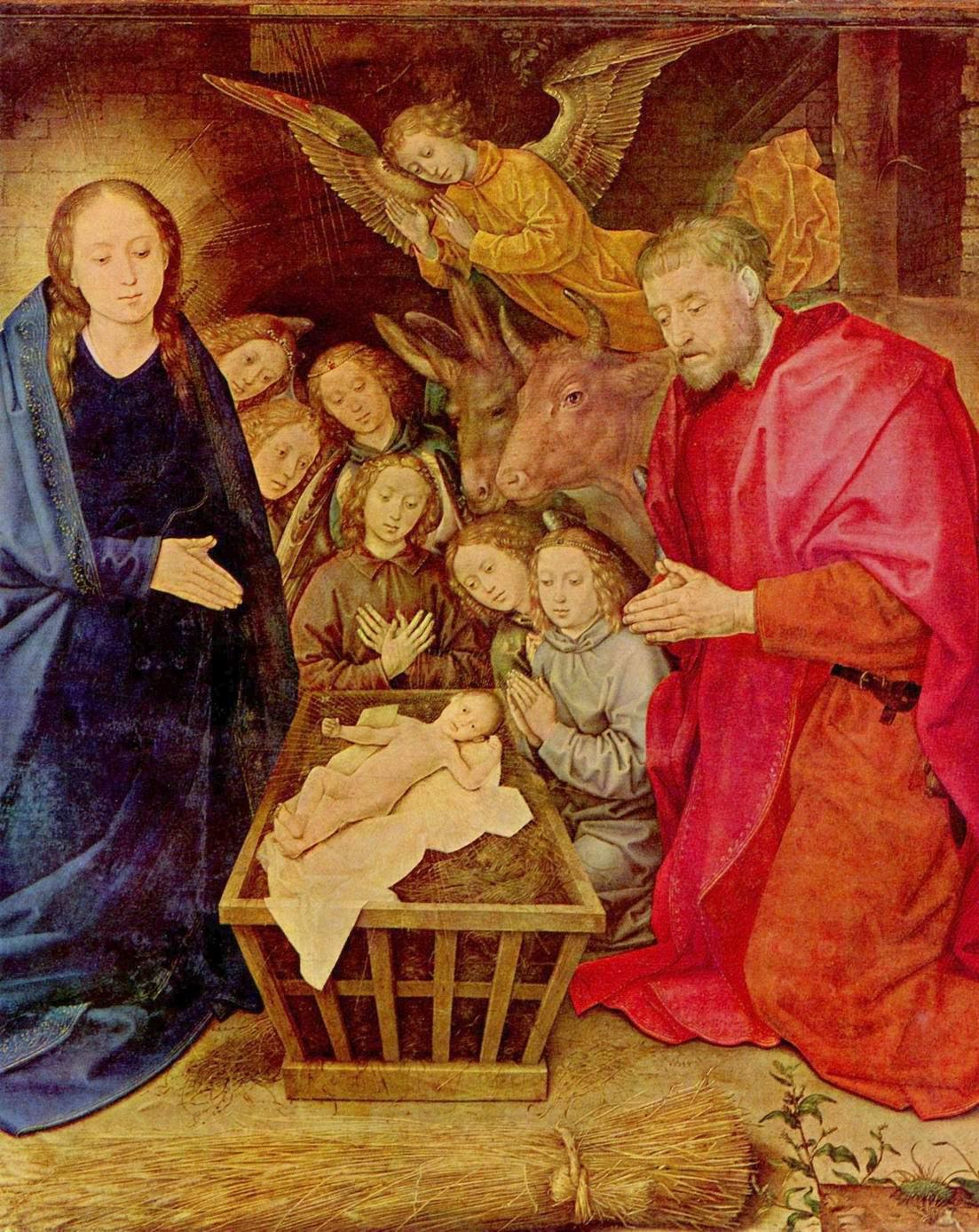 Поклонение пастухов. Фрагмент, Гуго ван дер Гус