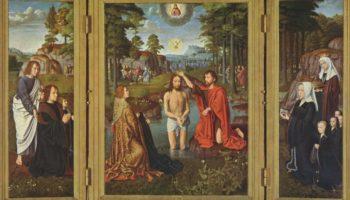 Крещение, с донаторами и их святыми