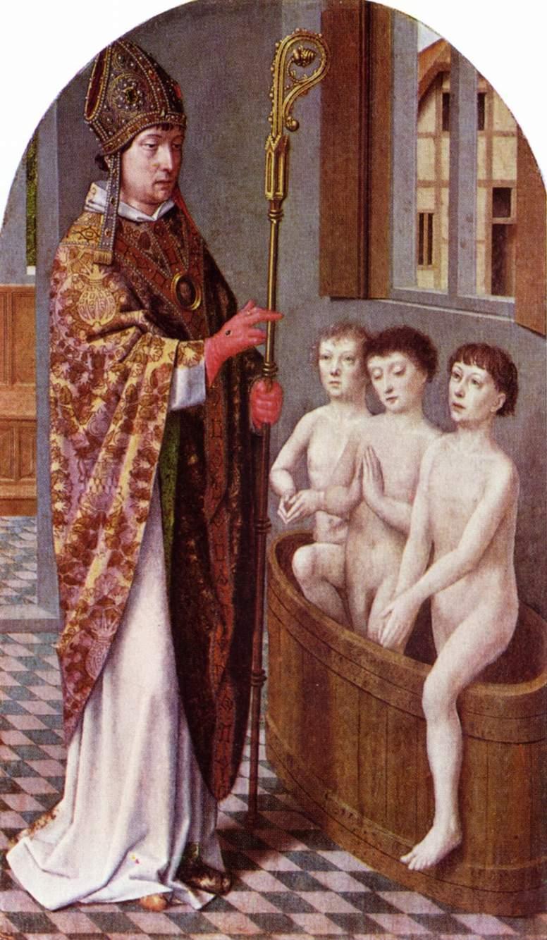 Две сцены из жития св. Николая, Давид Герард