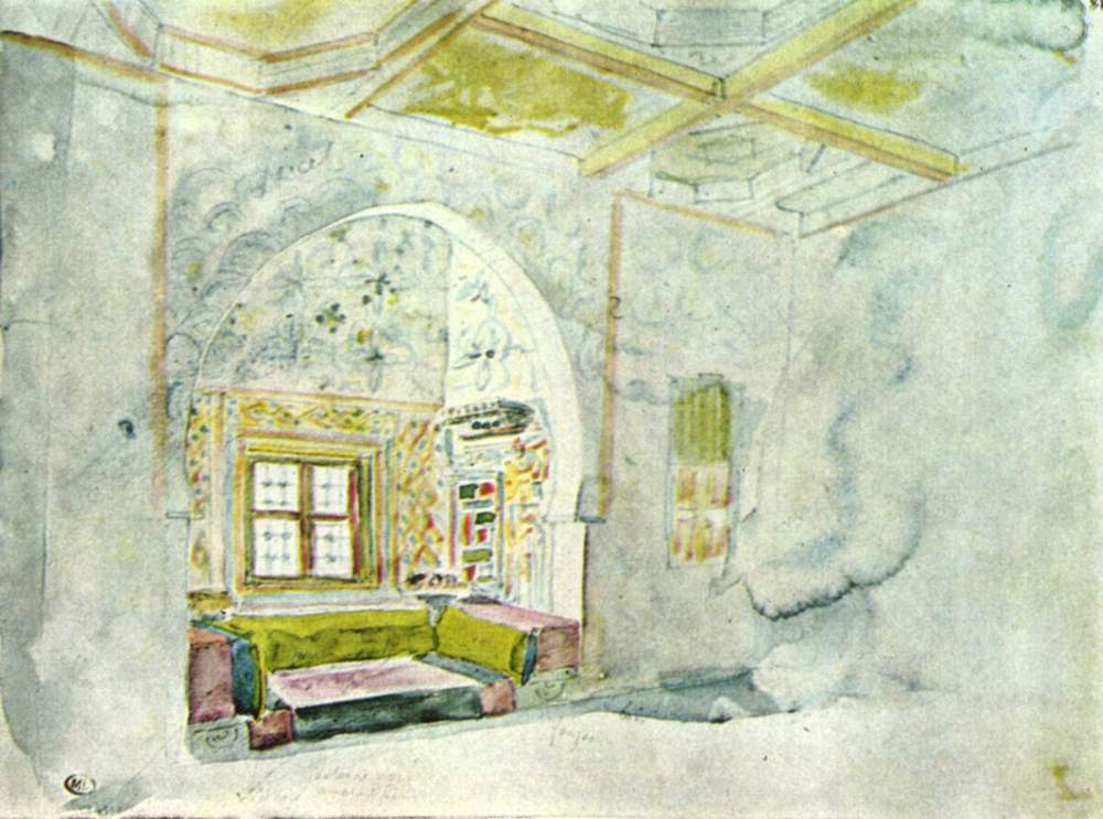 Комната с нишей во дворце султана Мекны, Делакруа Эжен Фердинанд Виктор