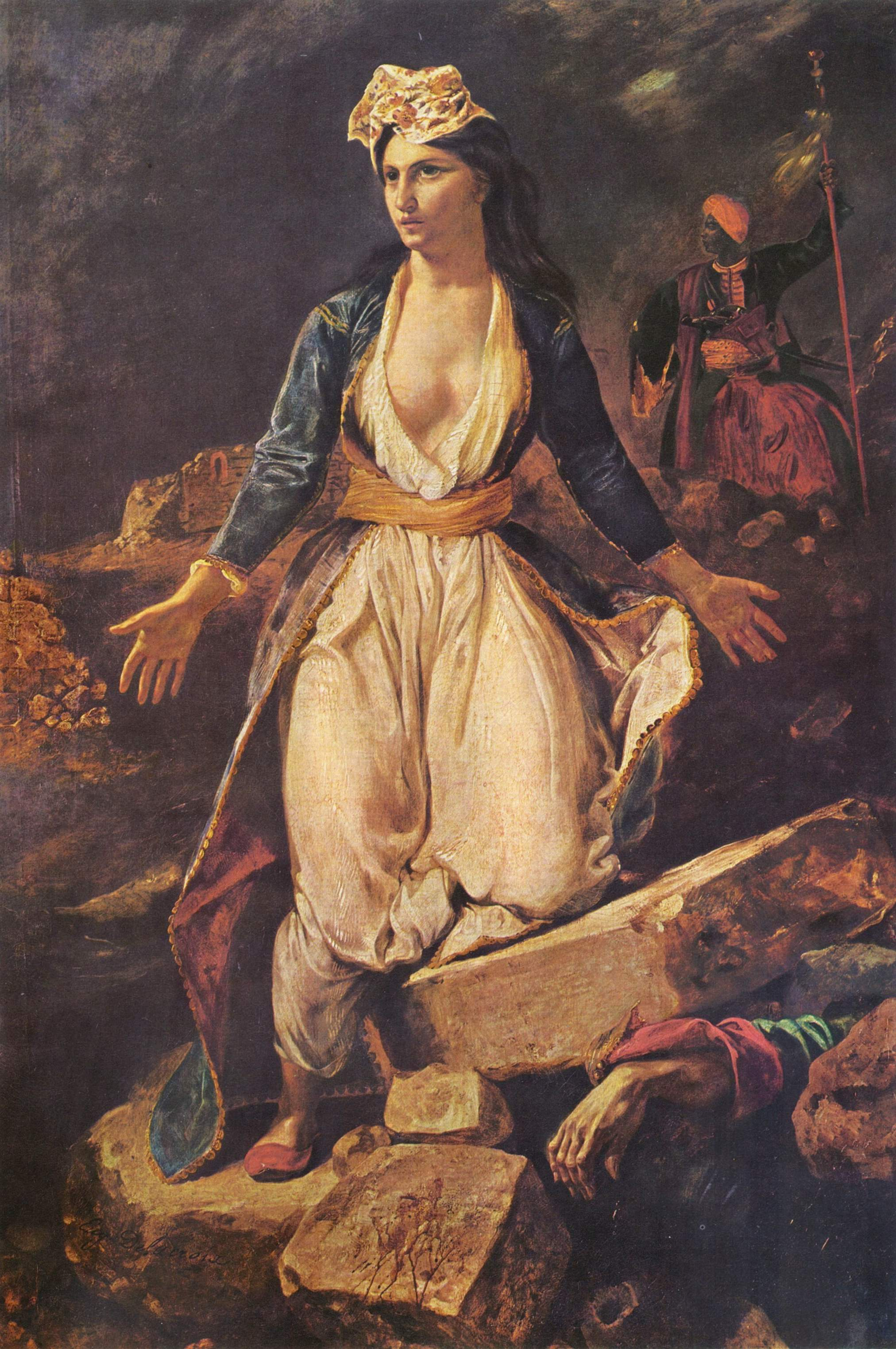 Греция на развалинах Миссолонги, Делакруа Эжен Фердинанд Виктор