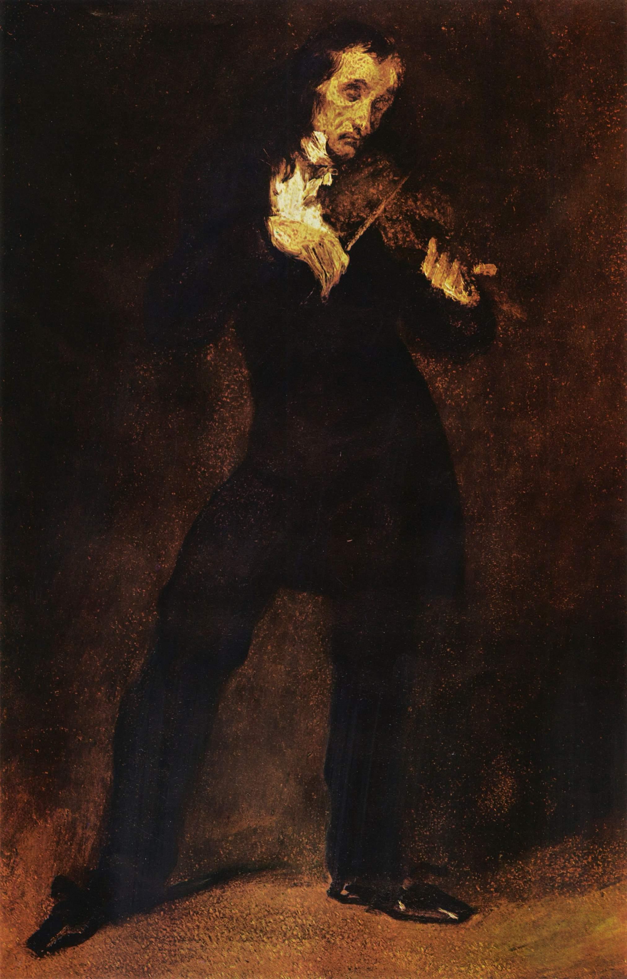 Портрет Паганини, Делакруа Эжен Фердинанд Виктор