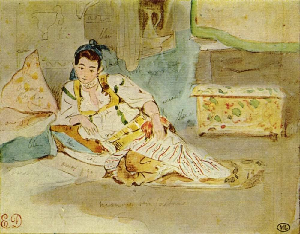 Алжирские женщины (этюд), Делакруа Эжен Фердинанд Виктор