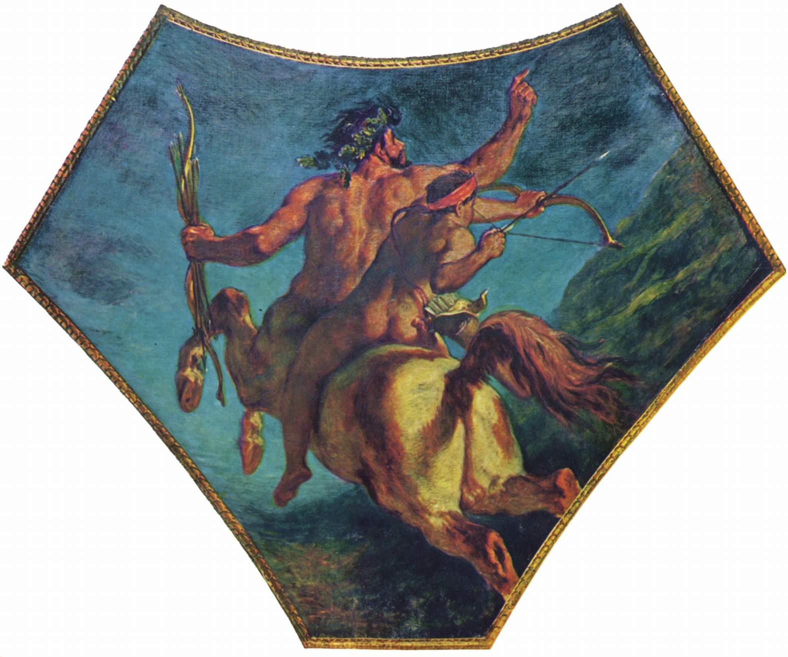 Атилла попирает Италию и Искусства, фрагмент, Делакруа Эжен Фердинанд Виктор