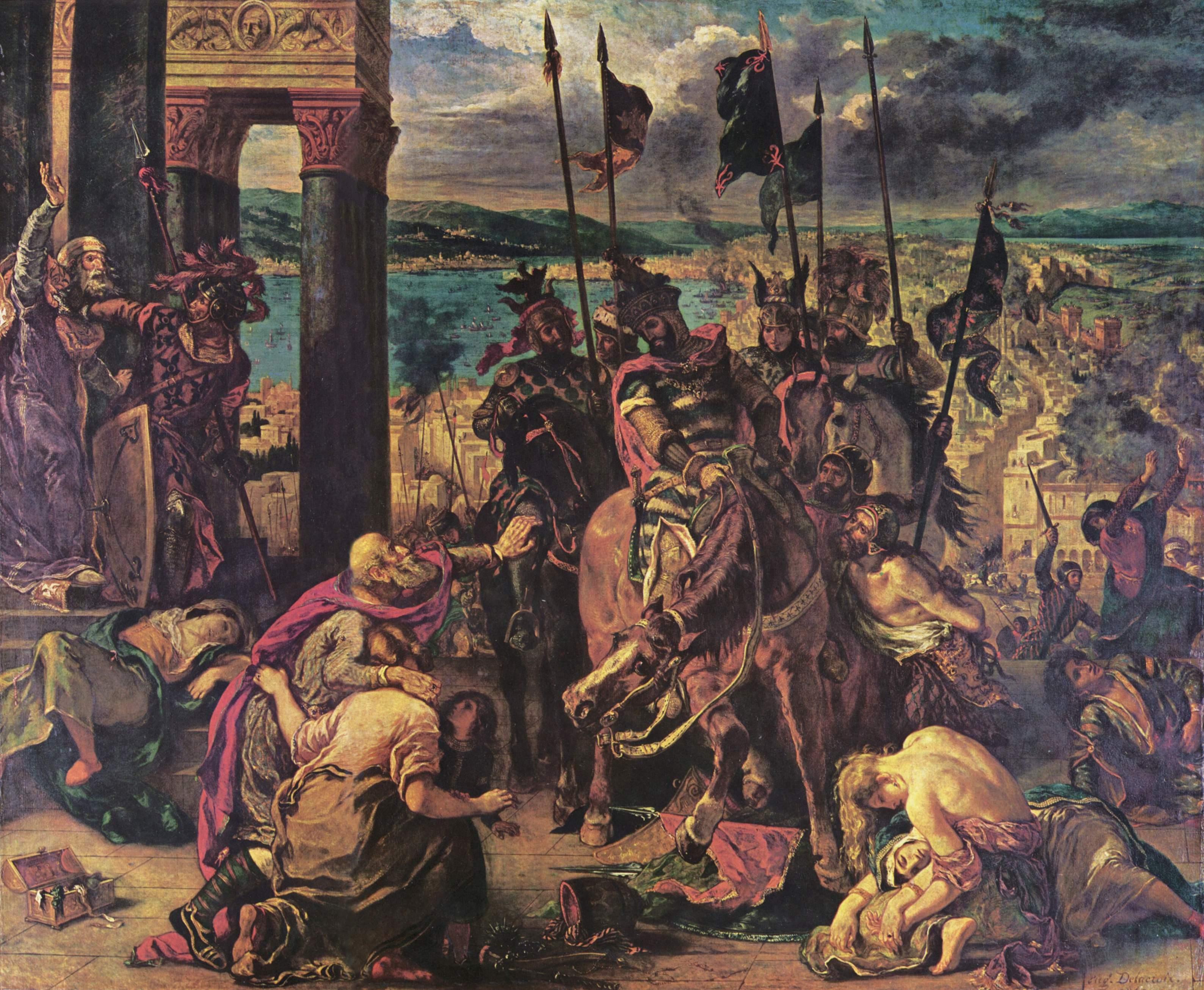 Взятие Константинополя крестоносцами, Делакруа Эжен Фердинанд Виктор