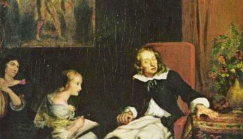Мильтон диктует дочерям «Потерянный Рай»