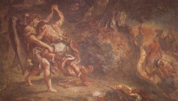 Церковь св. Сульпиция, Капелла св. Ангела  Борьба Иакова с ангелом. Деталь