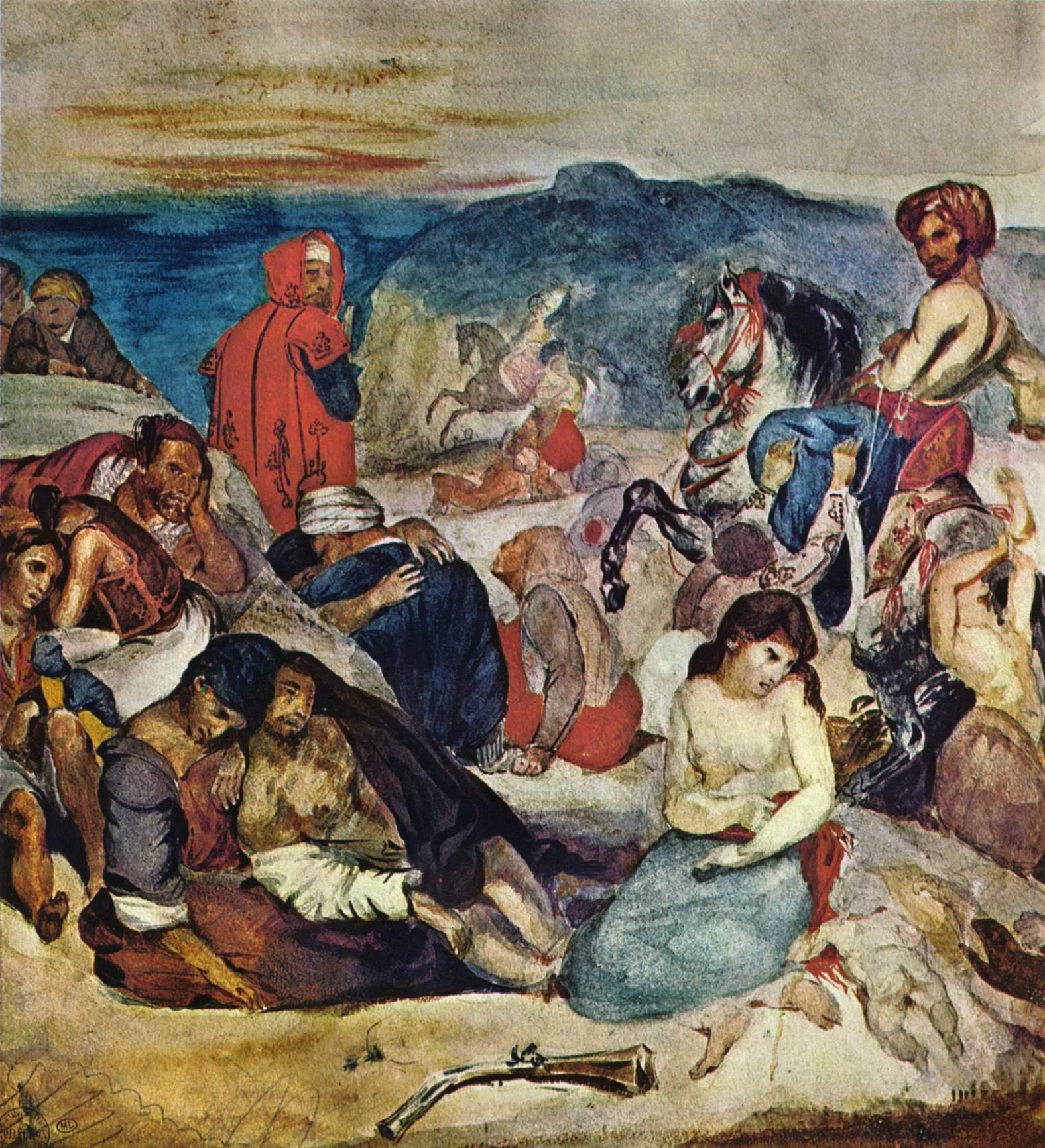 Резня на Хиосе (этюд), Делакруа Эжен Фердинанд Виктор