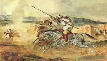 Состязания в стрельбе перед воротами Мекны