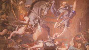 Церковь св. Сульпиция, капелла св. Ангела, изгнание Элиодора из Храма. Деталь