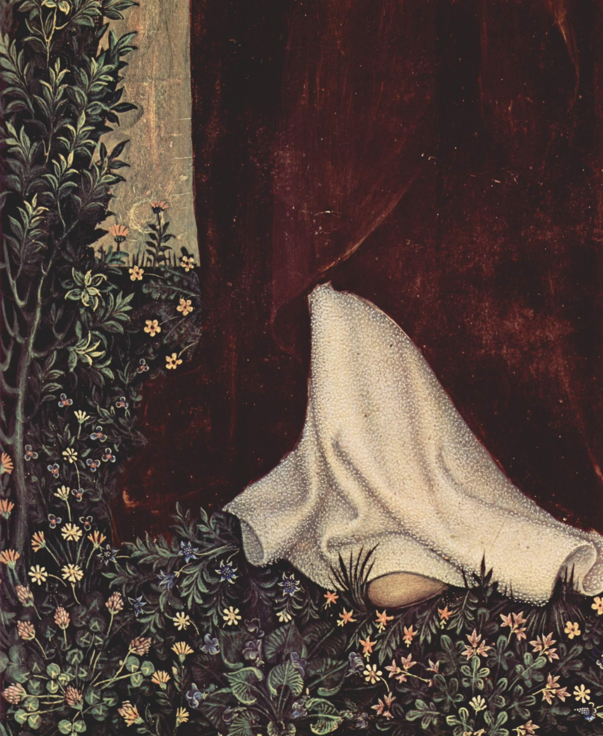 Коронование Марии [10], правая внутренняя створка. св. Доминик. Фрагмент, Джентиле да Фабриано